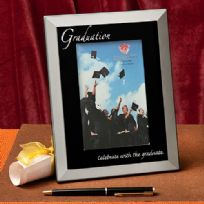 Black & Silver Graduation Photo Frame